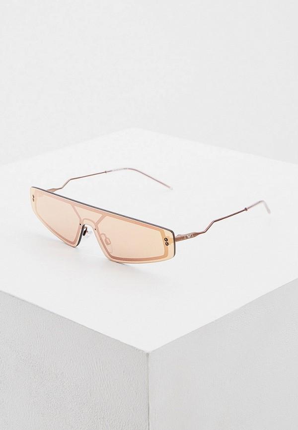 мужские квадратные солнцезащитные очки emporio armani, розовые