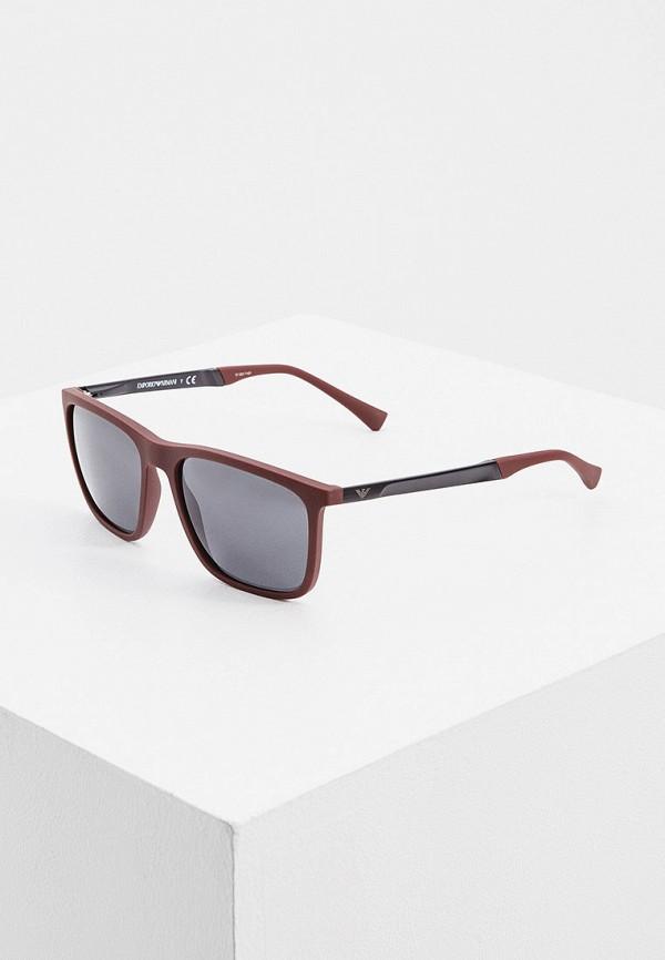мужские солнцезащитные очки emporio armani, бордовые