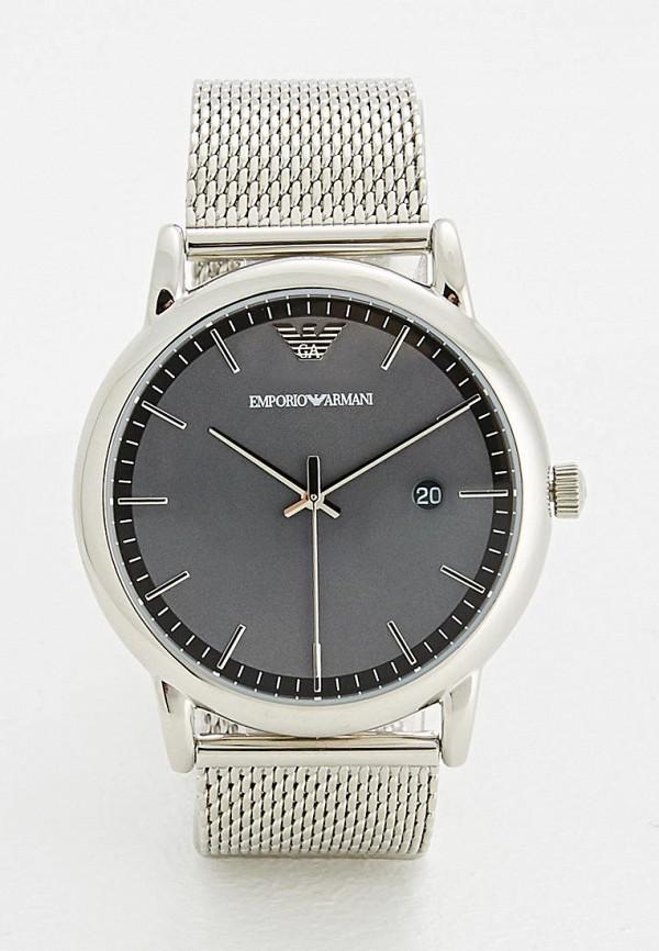 мужские часы emporio armani, серебряные