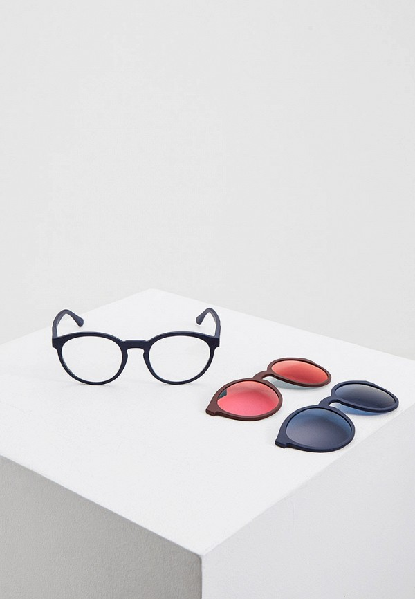 женские круглые солнцезащитные очки emporio armani, разноцветные