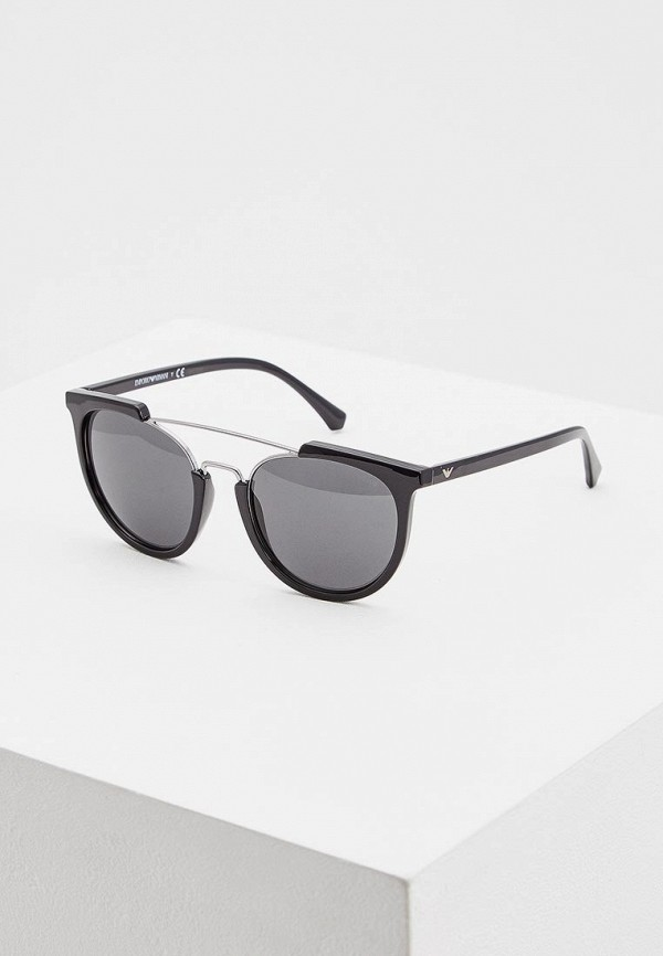 Купить Очки солнцезащитные Emporio Armani черного цвета