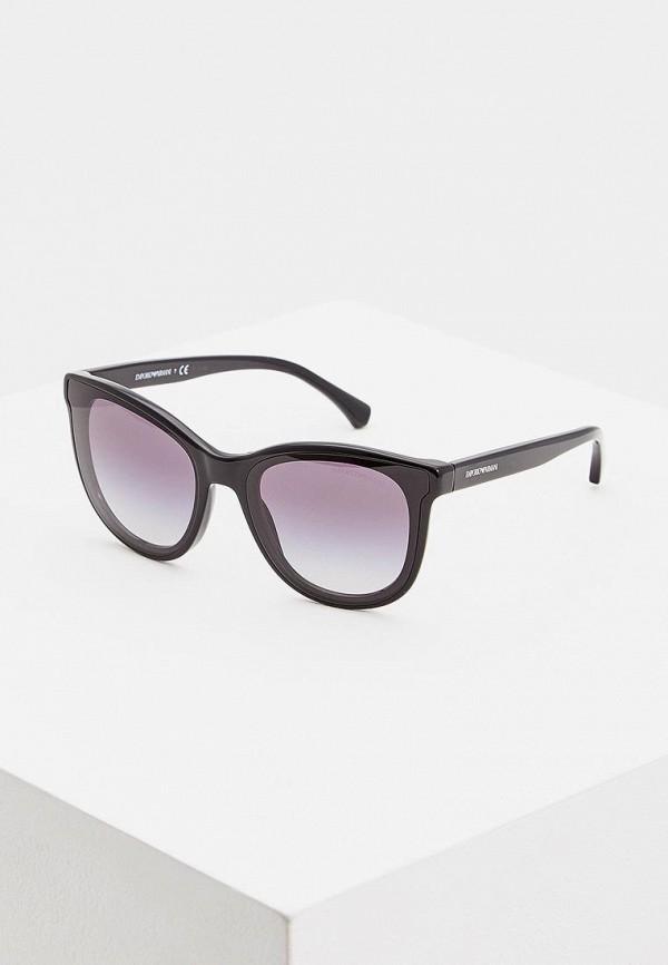 женские солнцезащитные очки emporio armani, черные