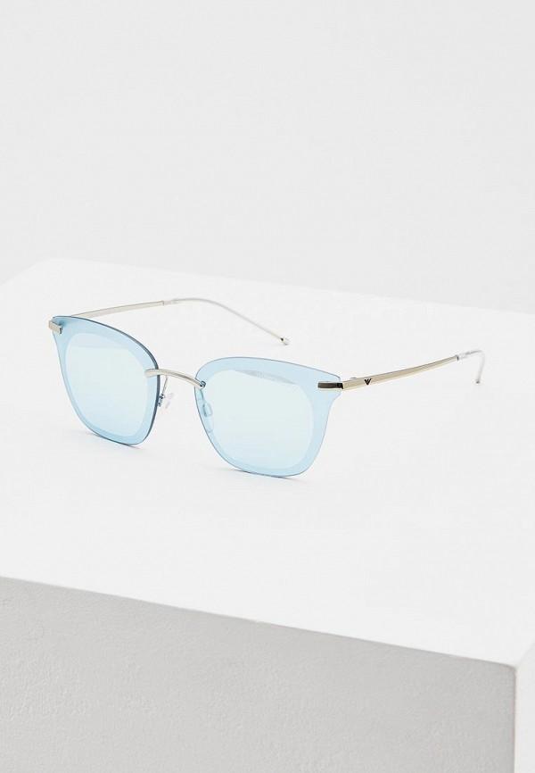 Купить Очки солнцезащитные Emporio Armani голубого цвета