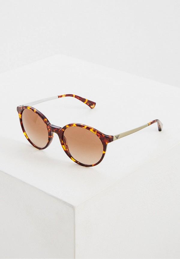 женские солнцезащитные очки emporio armani, коричневые