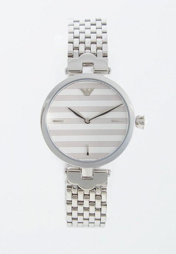 женские часы emporio armani, серебряные