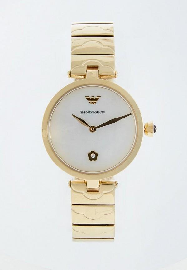 женские часы emporio armani, золотые