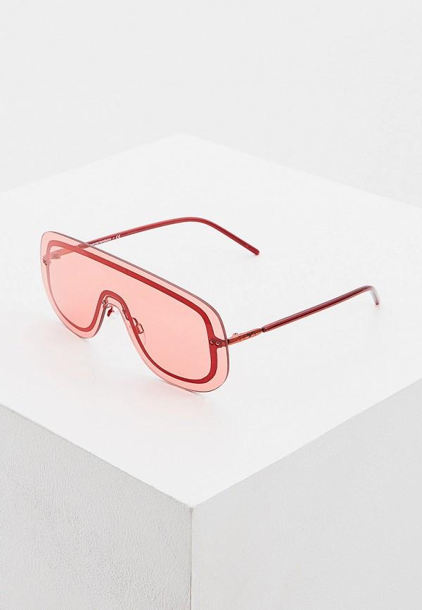 женские авиаторы солнцезащитные очки emporio armani, красные