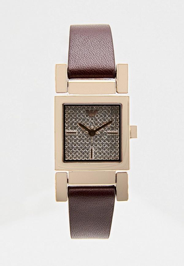 женские часы emporio armani, коричневые