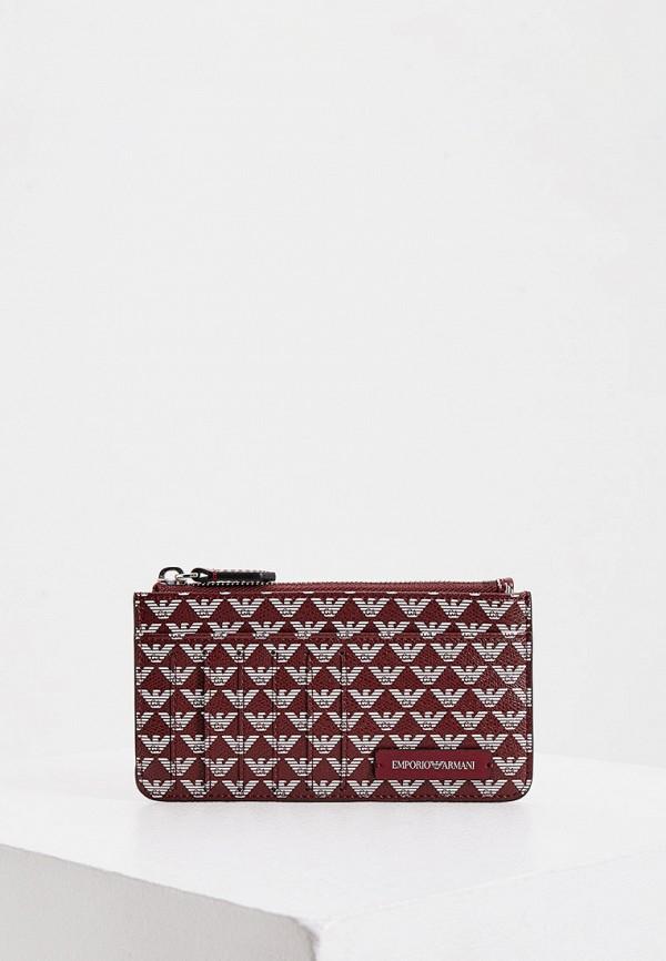 женский кошелёк emporio armani, бордовый