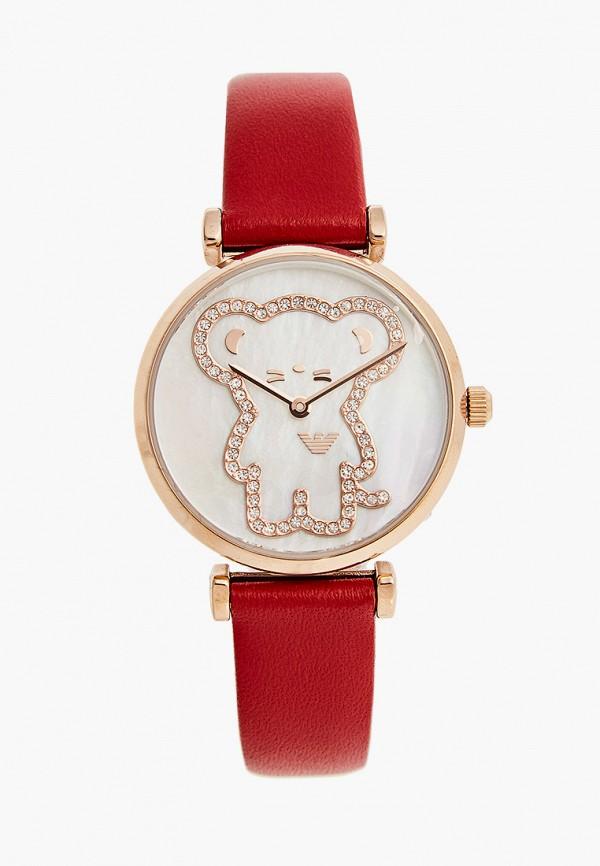 женские часы emporio armani, красные