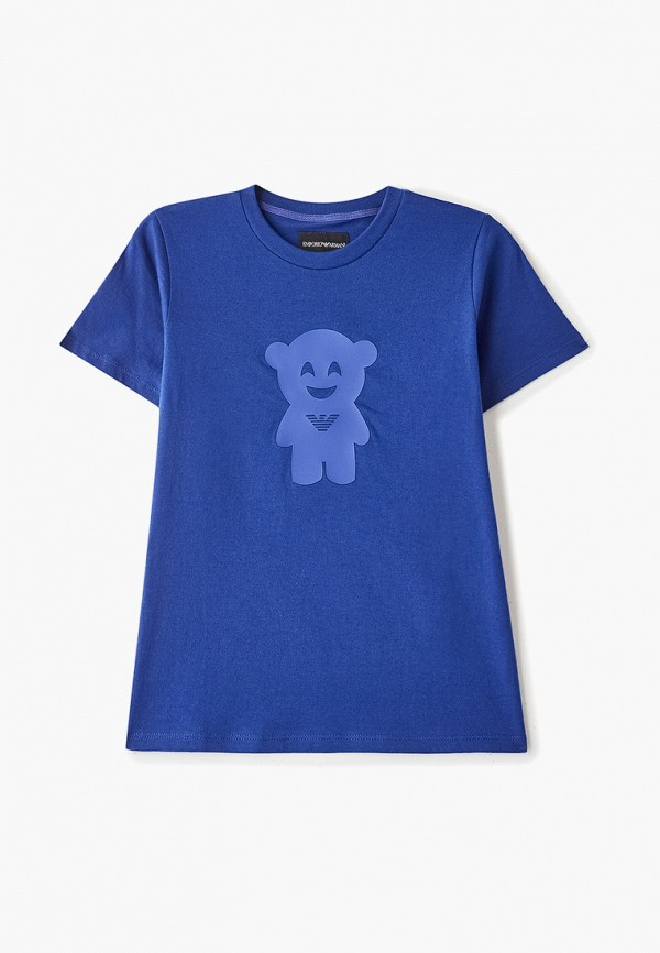 футболка с коротким рукавом emporio armani для мальчика, синяя