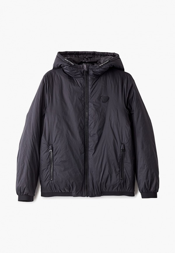 куртка emporio armani для мальчика, серая