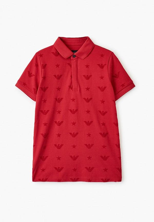 поло emporio armani для мальчика, красное