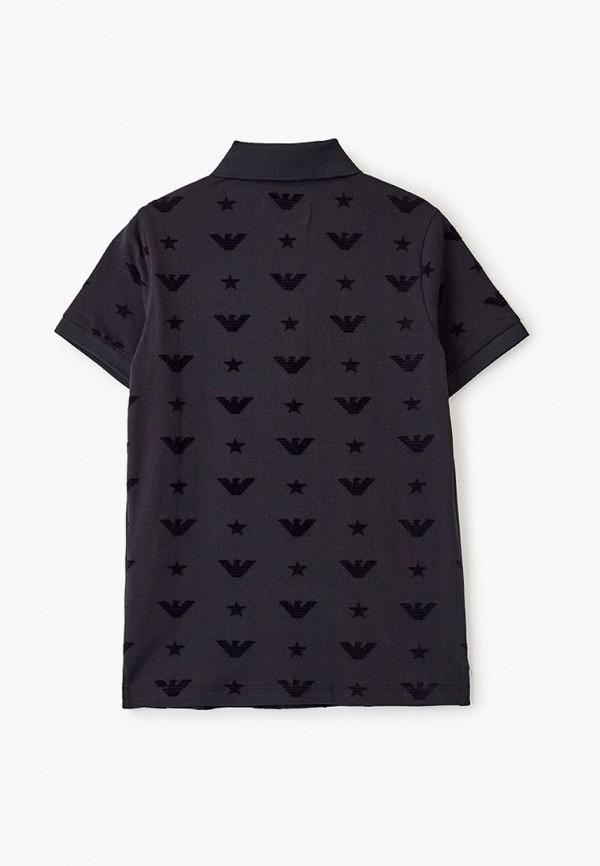 Фото 2 - футболку или поло для мальчика Emporio Armani синего цвета