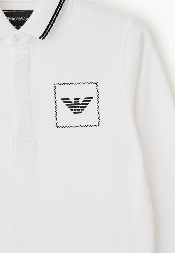 Фото 3 - футболку или поло для мальчика Emporio Armani белого цвета