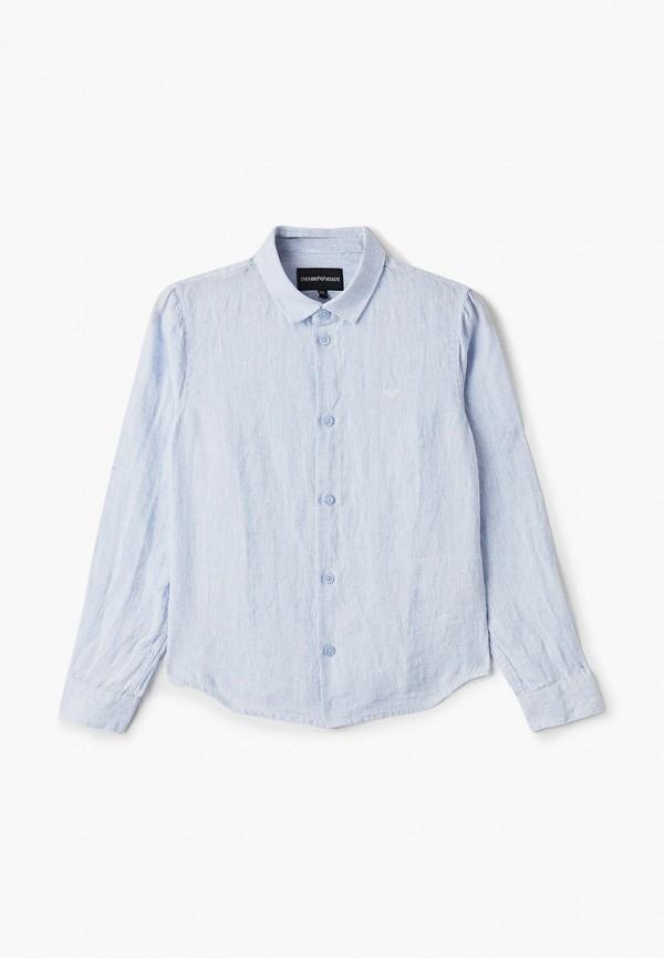 рубашка emporio armani для мальчика, голубая