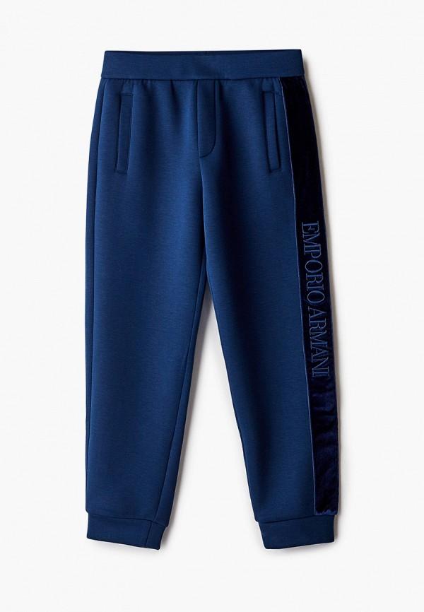 спортивные брюки emporio armani для мальчика, синие