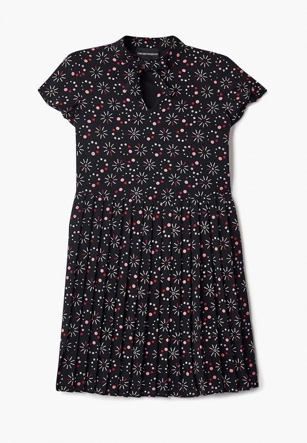 платье emporio armani для девочки, черное