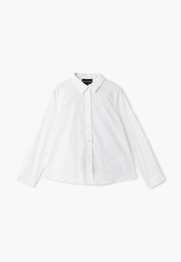 блузка emporio armani для девочки, белая
