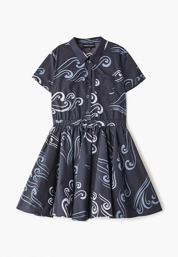 повседневные платье emporio armani для девочки, синее