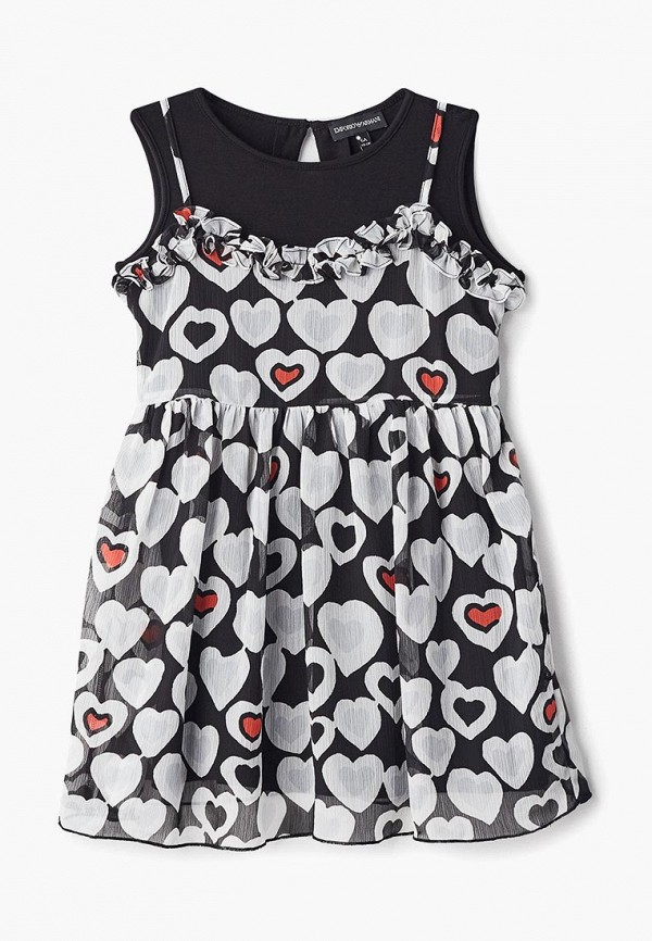 платье emporio armani для девочки, разноцветное