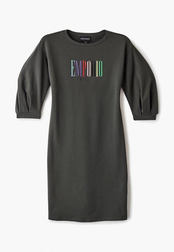 платье emporio armani для девочки, хаки