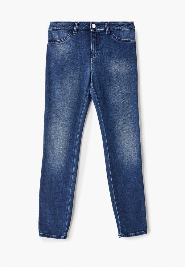 джинсы emporio armani для девочки, голубые