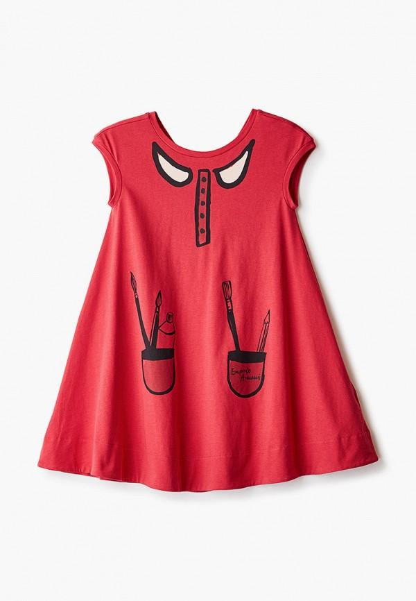 повседневные платье emporio armani для девочки, красное