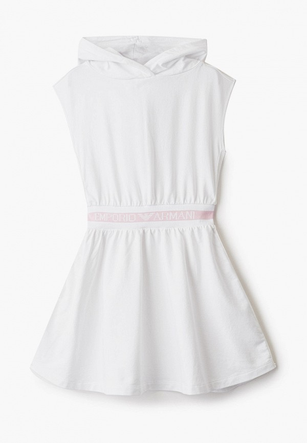 повседневные платье emporio armani для девочки, белое
