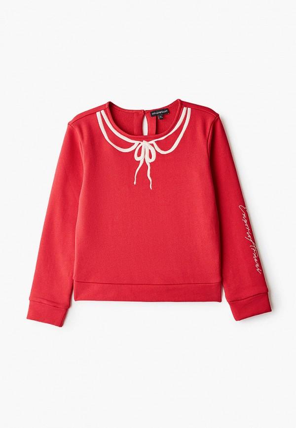 свитшот emporio armani для девочки, красный