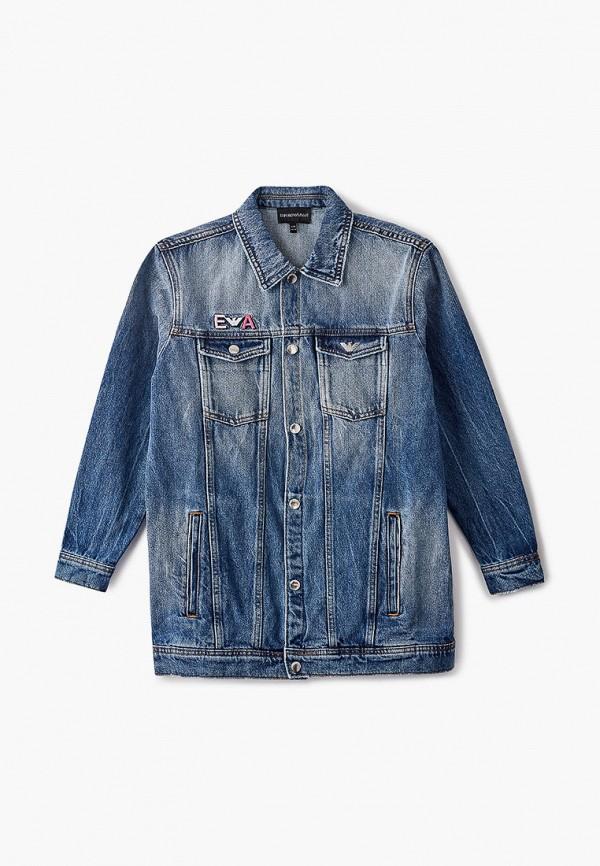 куртка emporio armani для девочки, синяя