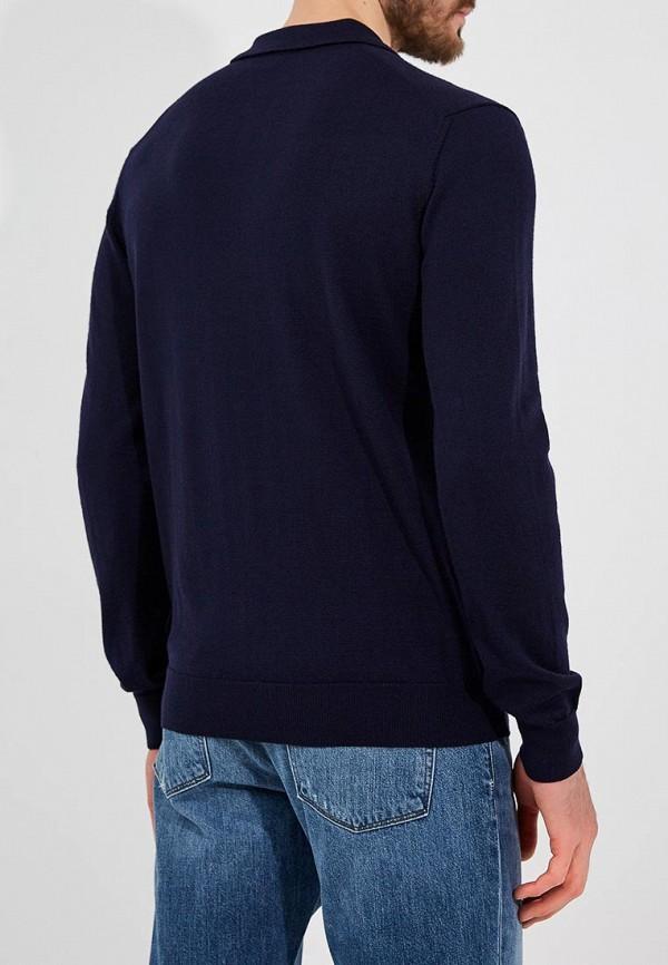 Фото 3 - мужское поло Emporio Armani синего цвета