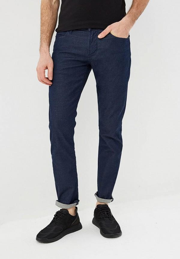 мужские зауженные джинсы emporio armani, синие