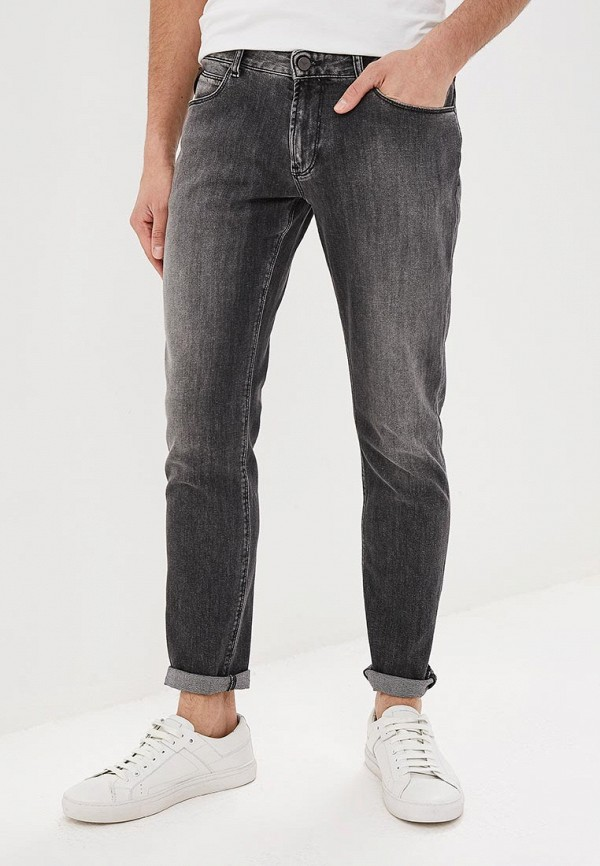 мужские зауженные джинсы emporio armani, серые