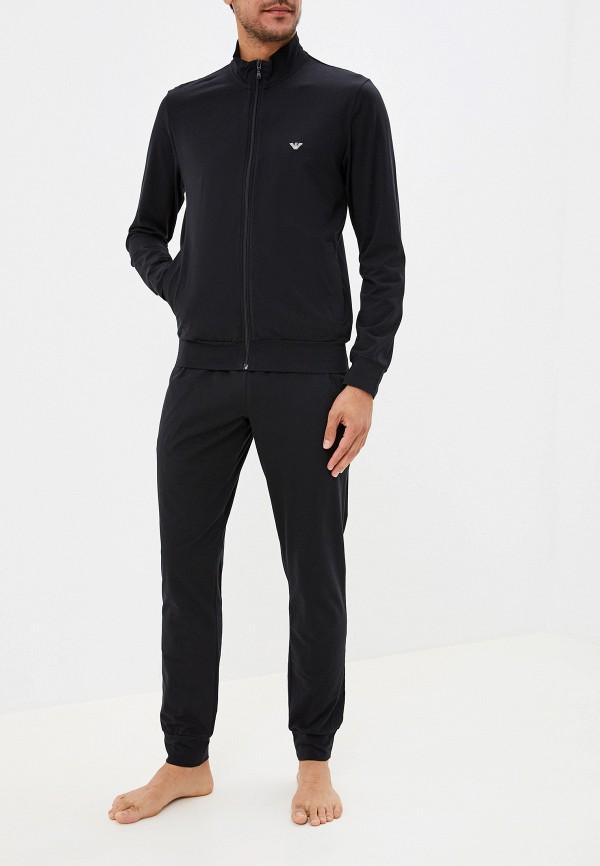 мужская пижама emporio armani, черная