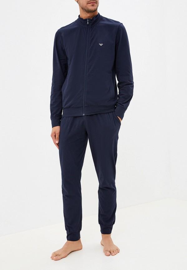 мужская пижама emporio armani, синяя