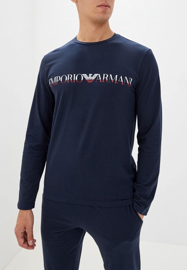 мужской лонгслив emporio armani, синий