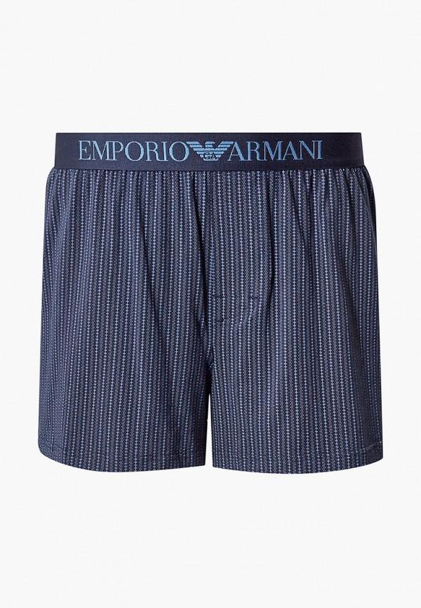 мужские трусы-шорты emporio armani, синие