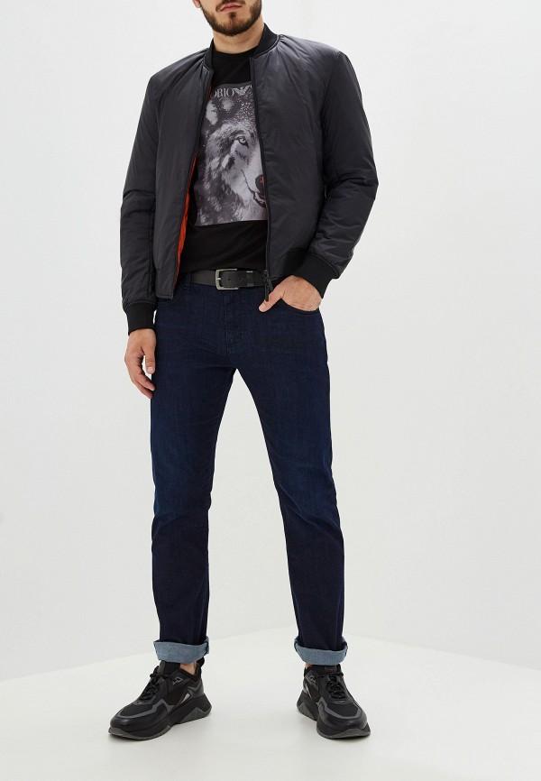 Фото 2 - Куртку утепленная Emporio Armani разноцветного цвета