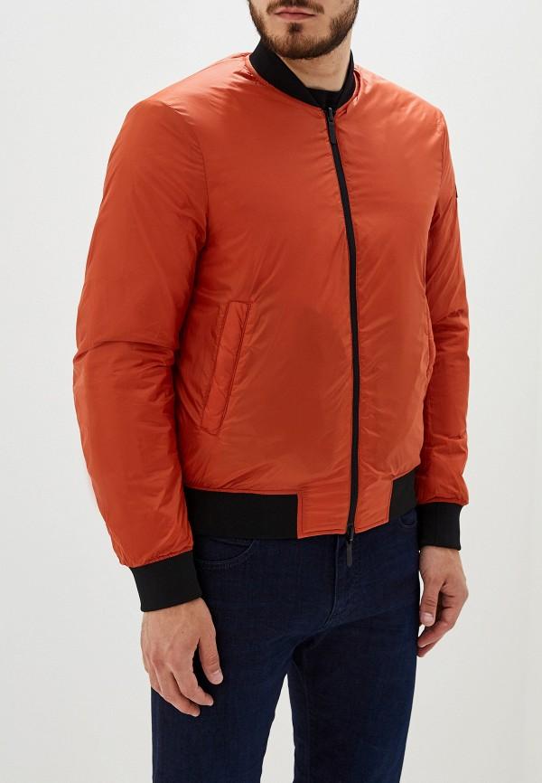 Фото 4 - Куртку утепленная Emporio Armani разноцветного цвета