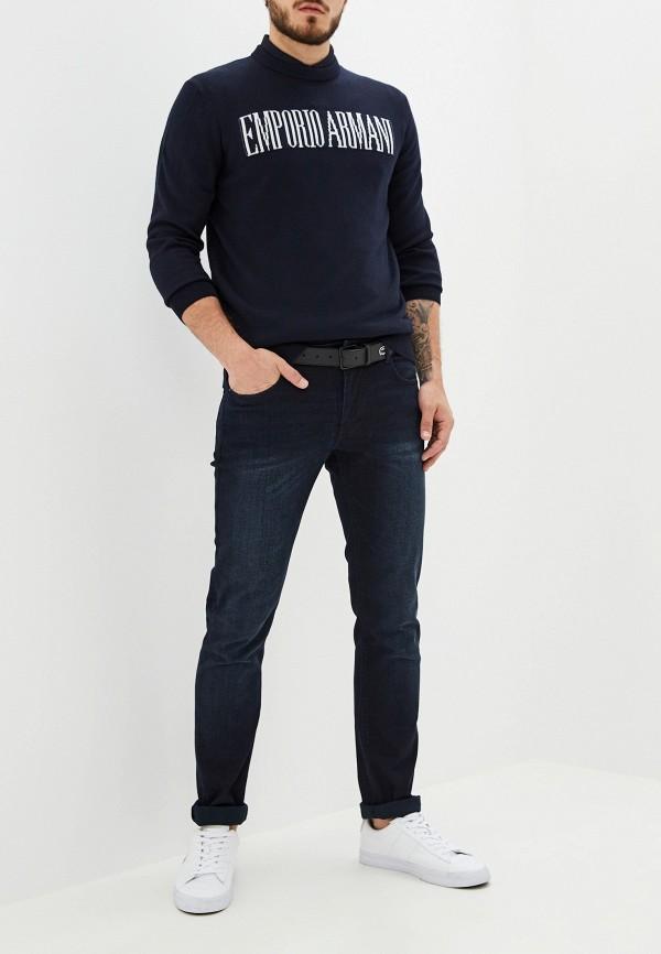 Фото 2 - мужское джемпер Emporio Armani синего цвета