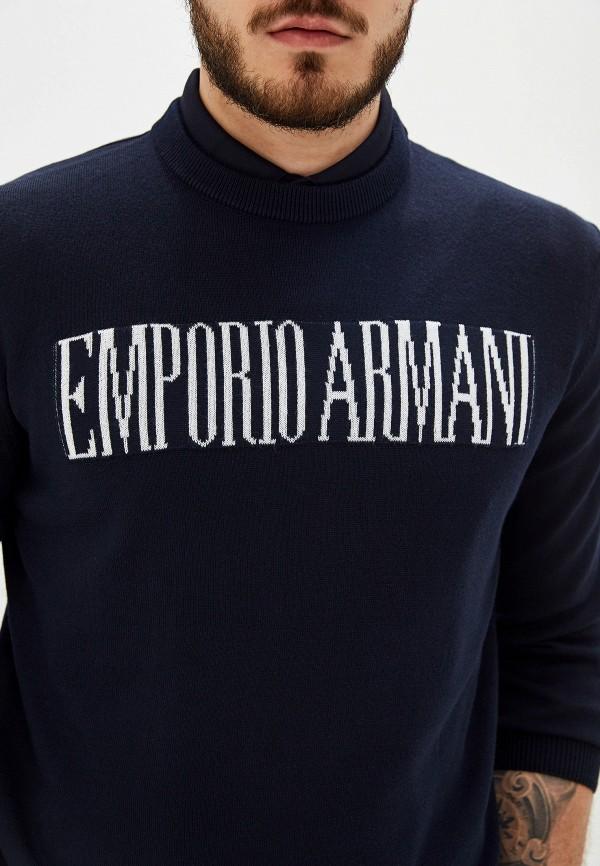 Фото 4 - мужское джемпер Emporio Armani синего цвета
