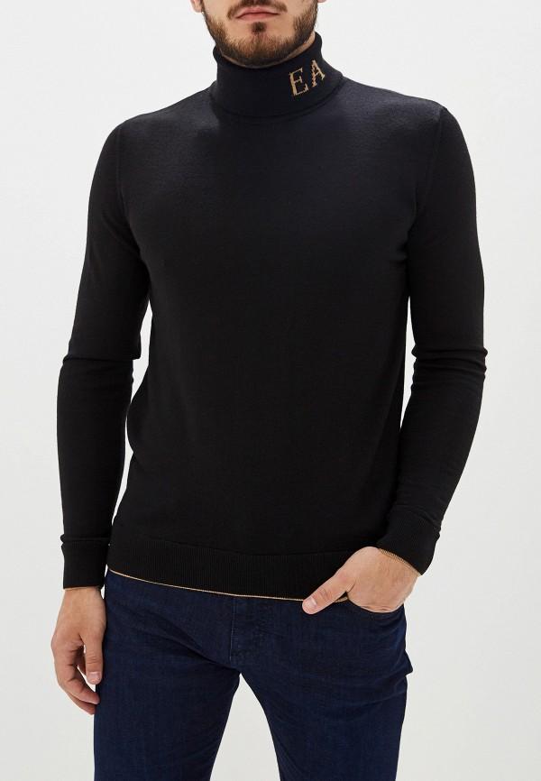 Фото - мужскую водолазку Emporio Armani черного цвета