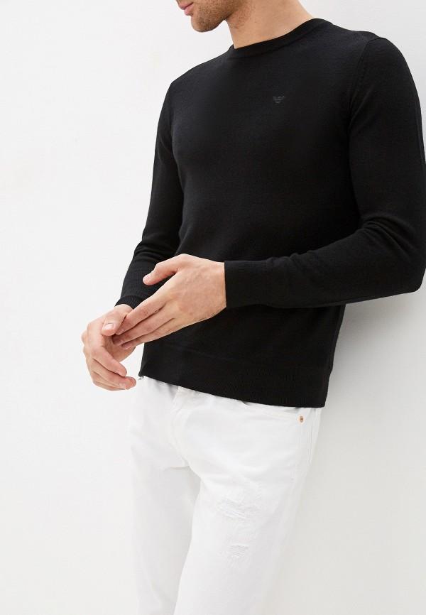мужской джемпер emporio armani, черный