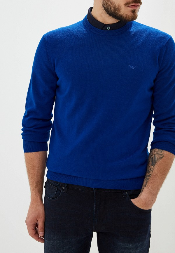 Фото - мужское джемпер Emporio Armani синего цвета