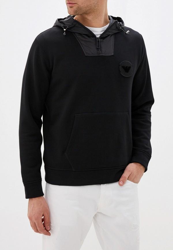мужские худи emporio armani, черные