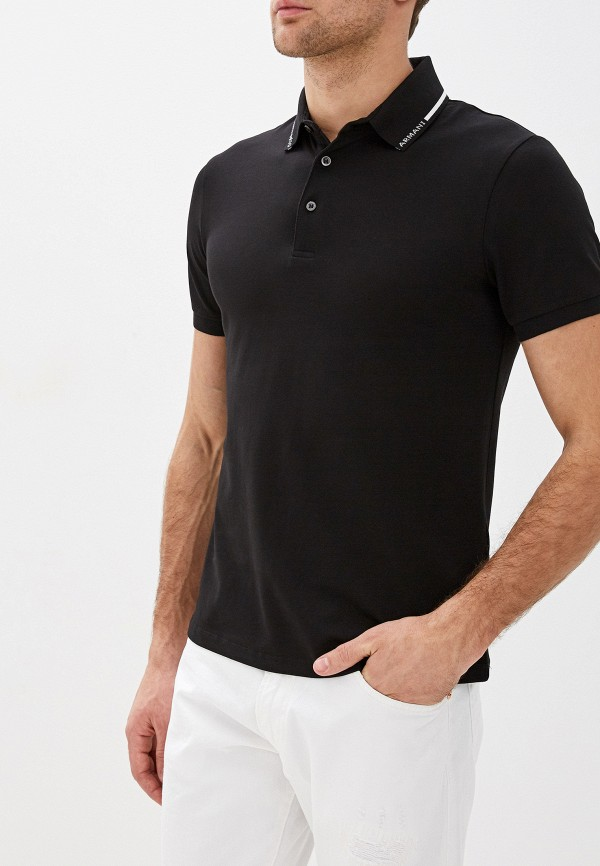 мужское поло emporio armani, черное