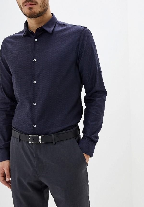 мужская рубашка с длинным рукавом emporio armani, синяя