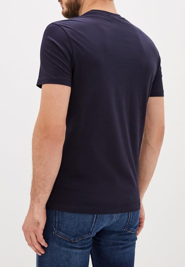 Фото 3 - мужскую футболку Emporio Armani синего цвета