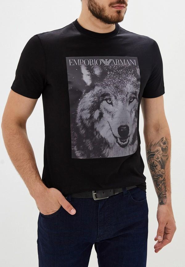 Фото - мужскую футболку Emporio Armani черного цвета